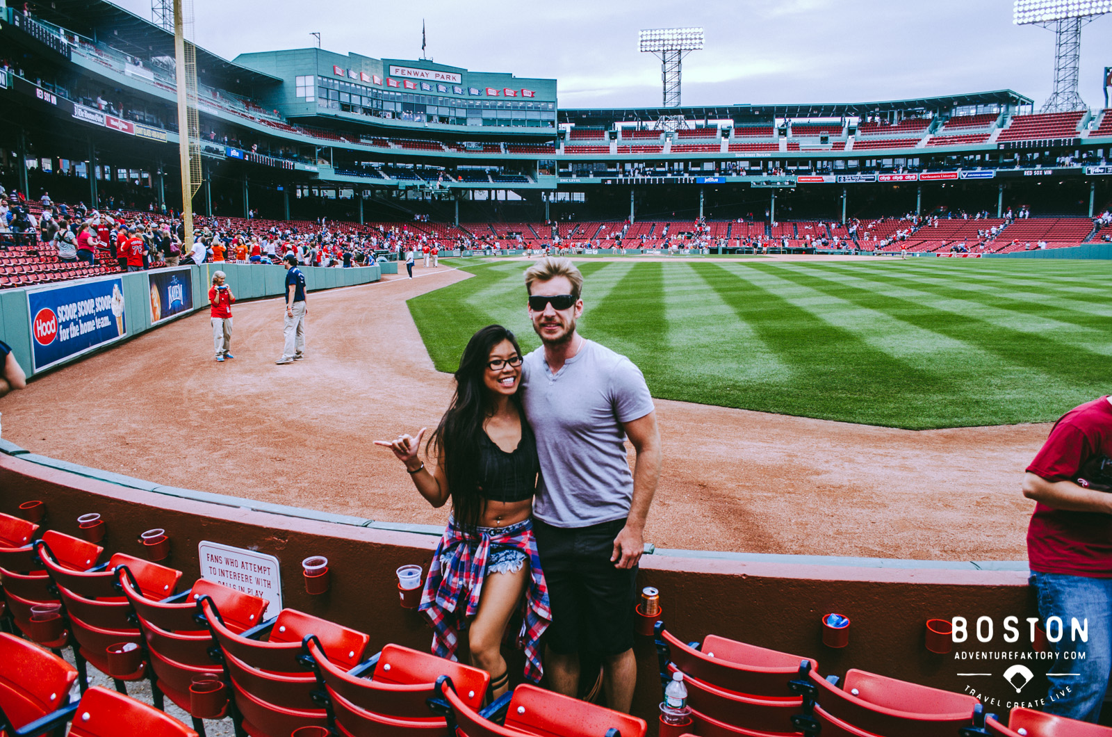 4th of July game at the Fenway Park