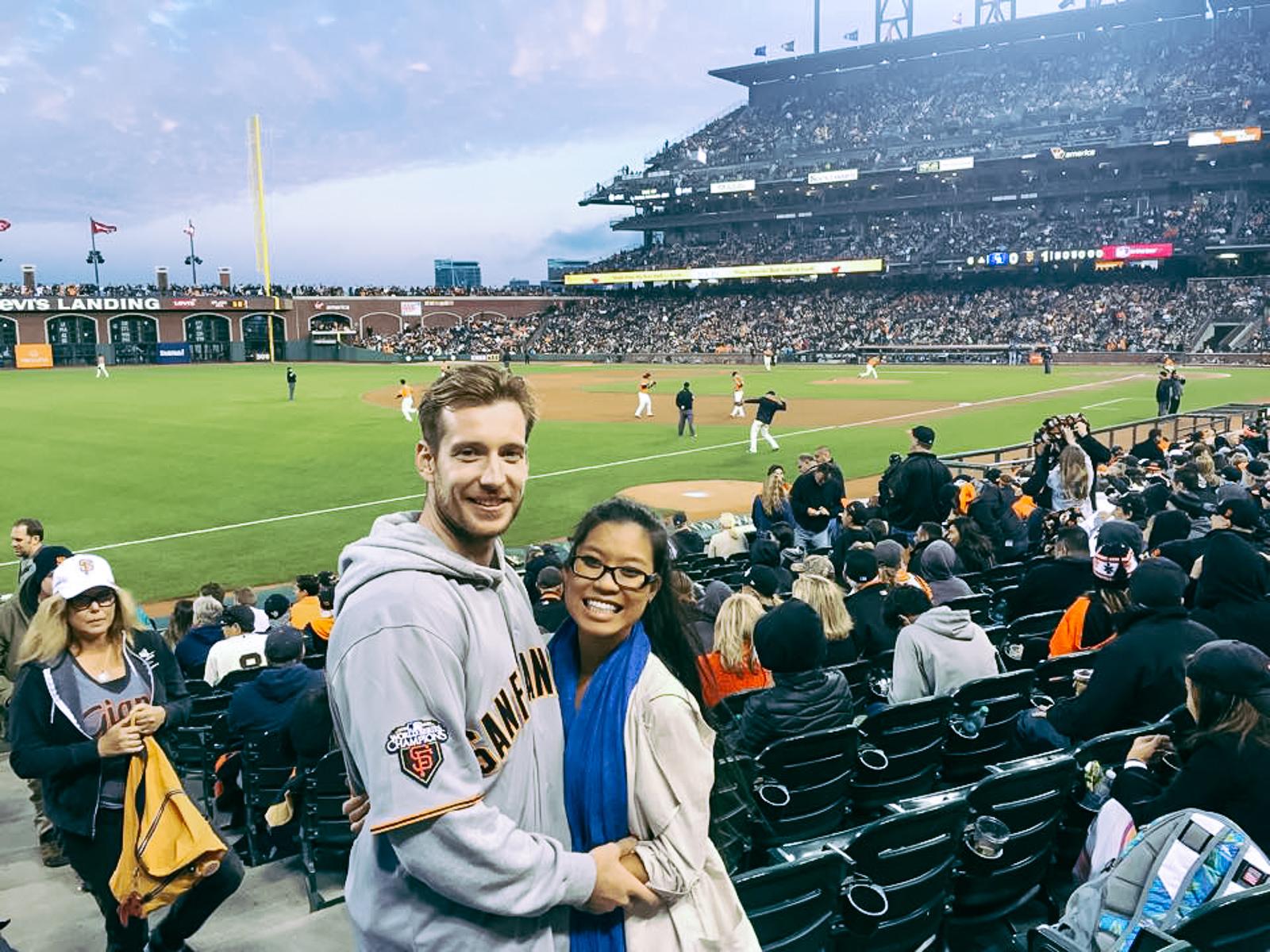 Giants game in San Francisco