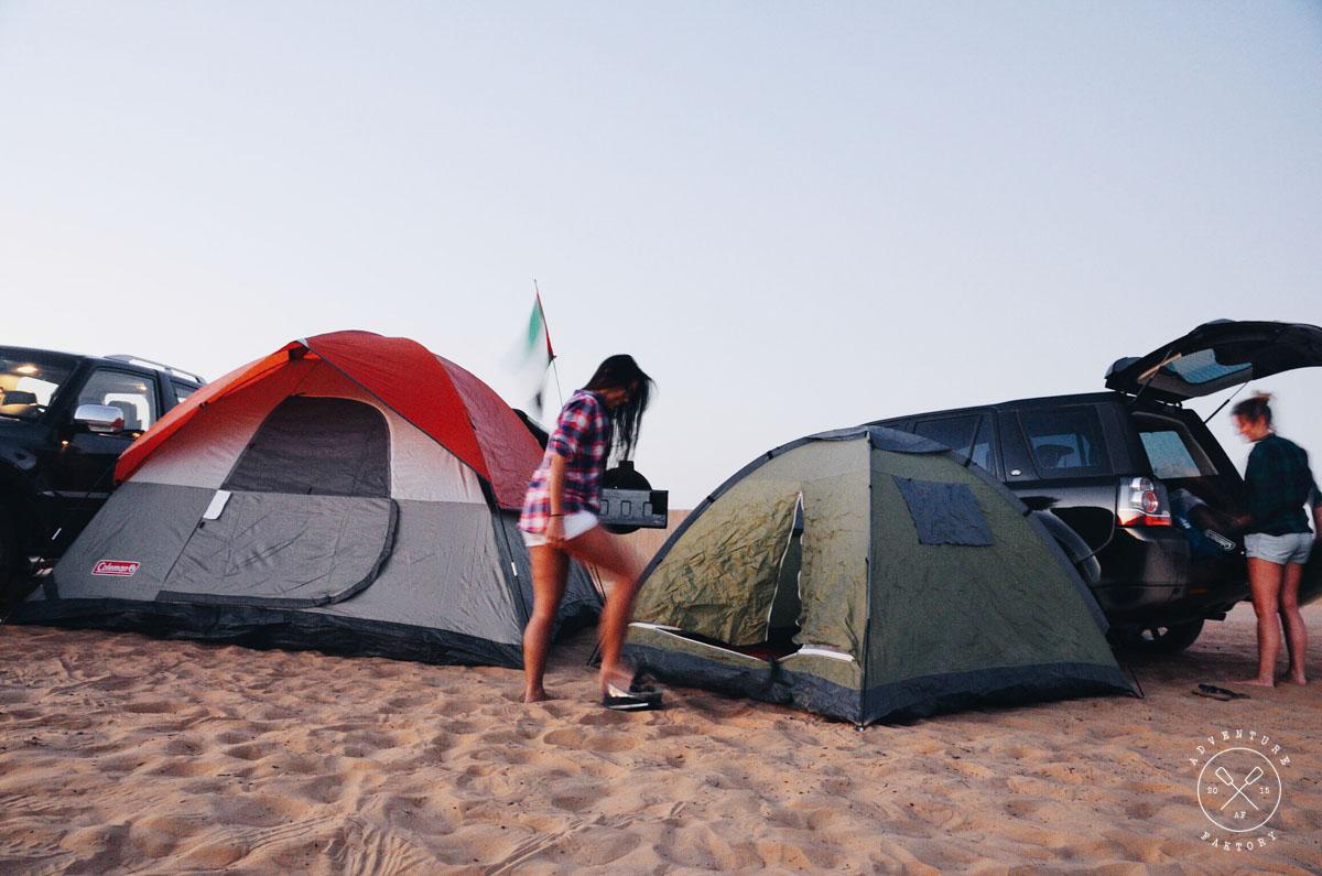 Camping in Sweihan