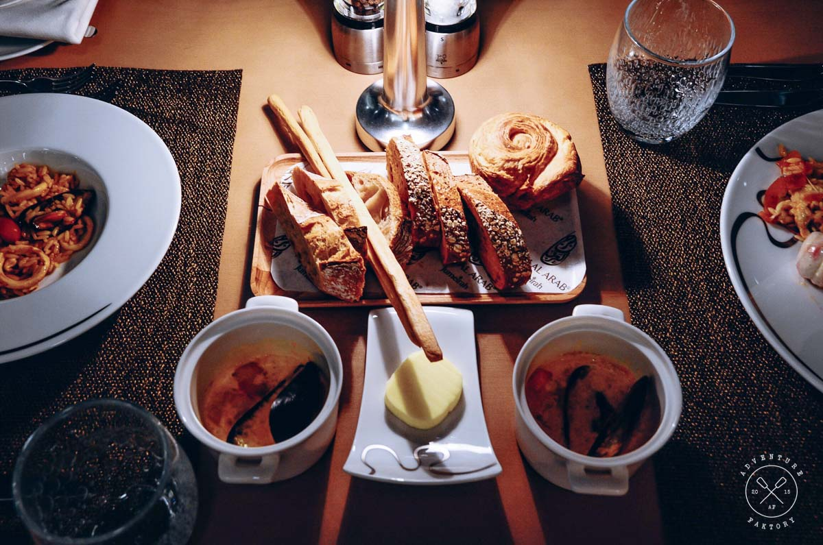 Don't get too excited with the delicious selection of breads; keep your tum tum for the other delicious dishes!