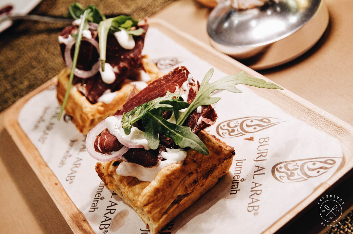 Ok I lied, the carrot cake wasn't the last food I ate. We saw last minute the savoury waffle station and decided we just couldn't leave the place without trying it. Again, simply ... no words... so good!