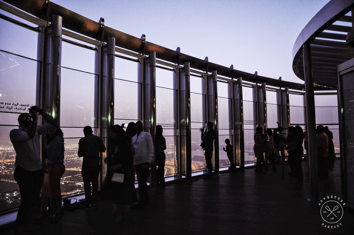 At The Top of the Burj Khalifa