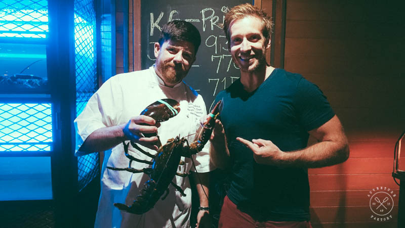 Executive chef of Burger and Lobster was in town! Was fun to have a chat with him and to learn more about the Lobster industry... and he is a Canuck too!