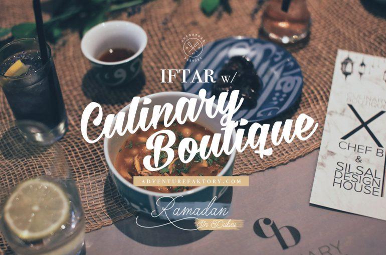 AdventureFaktory x Culinary Boutique x Chef B