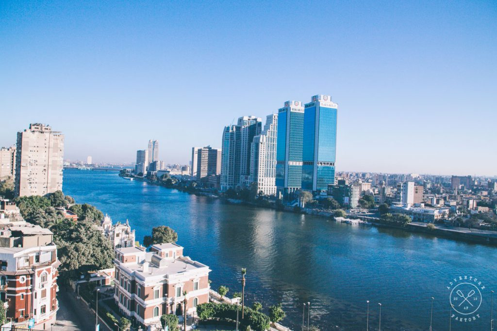 View from the balcony of the Marriott Cairo