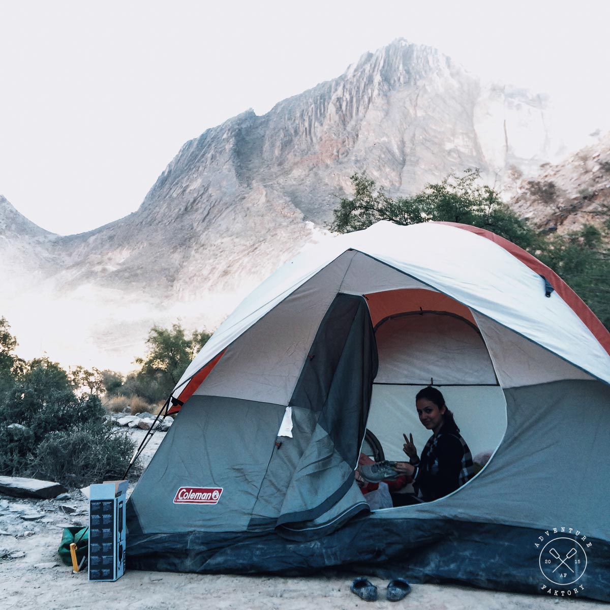 Camping in Jebel Shams, Oman