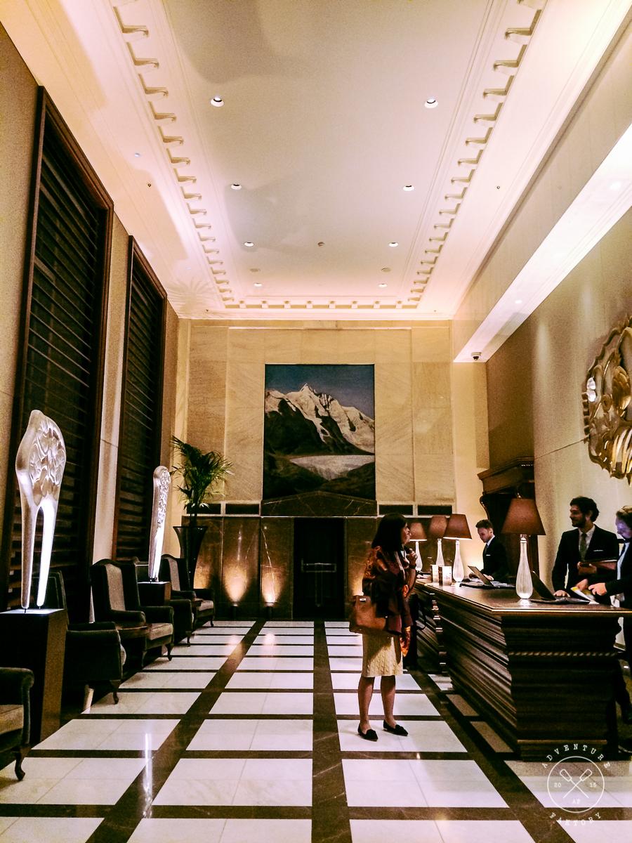 Lobby of the Park Hyatt Vienna