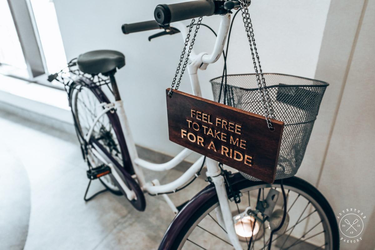 Vida Downtown's Complimentary bikes