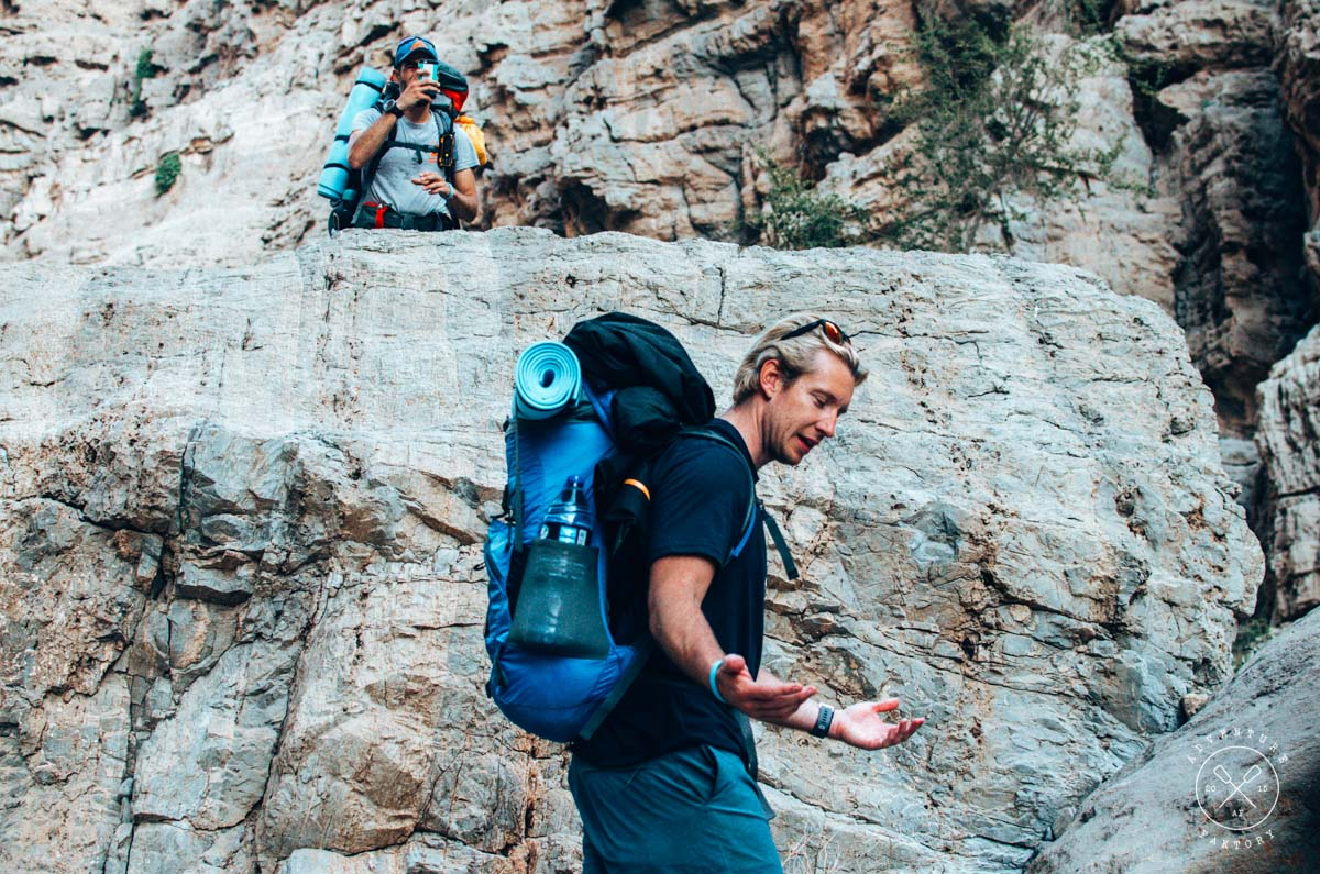 Trekking in Wadi Shah