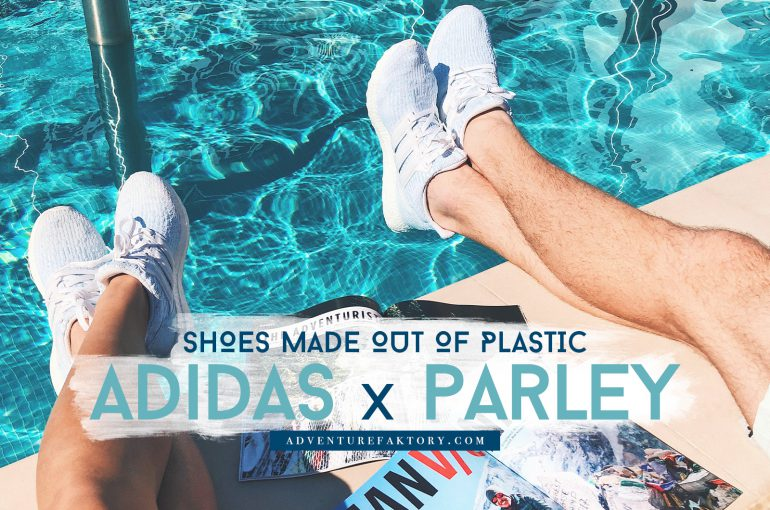 adidas parley scarpe fatte di plastica riciclata.