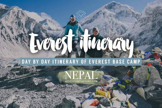 Everest Base Camp itinerary