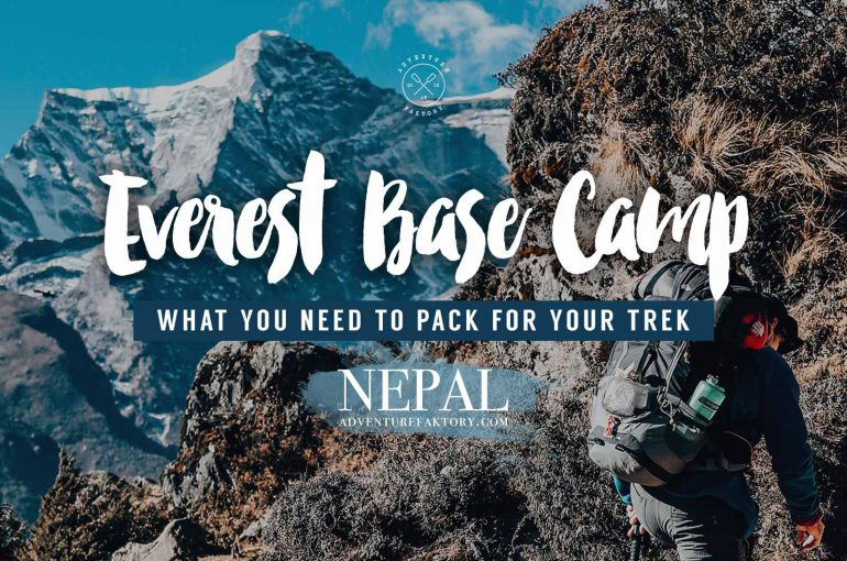 What to pack for Everest Base Camp