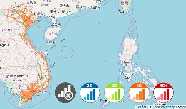 Viettel Coverage Map