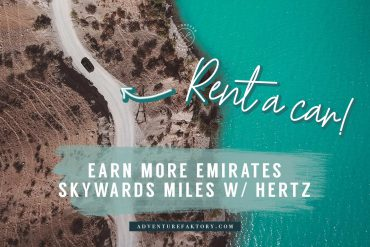 Earn Emirates Skywards miles when renting a car with Hertz Car Rentals