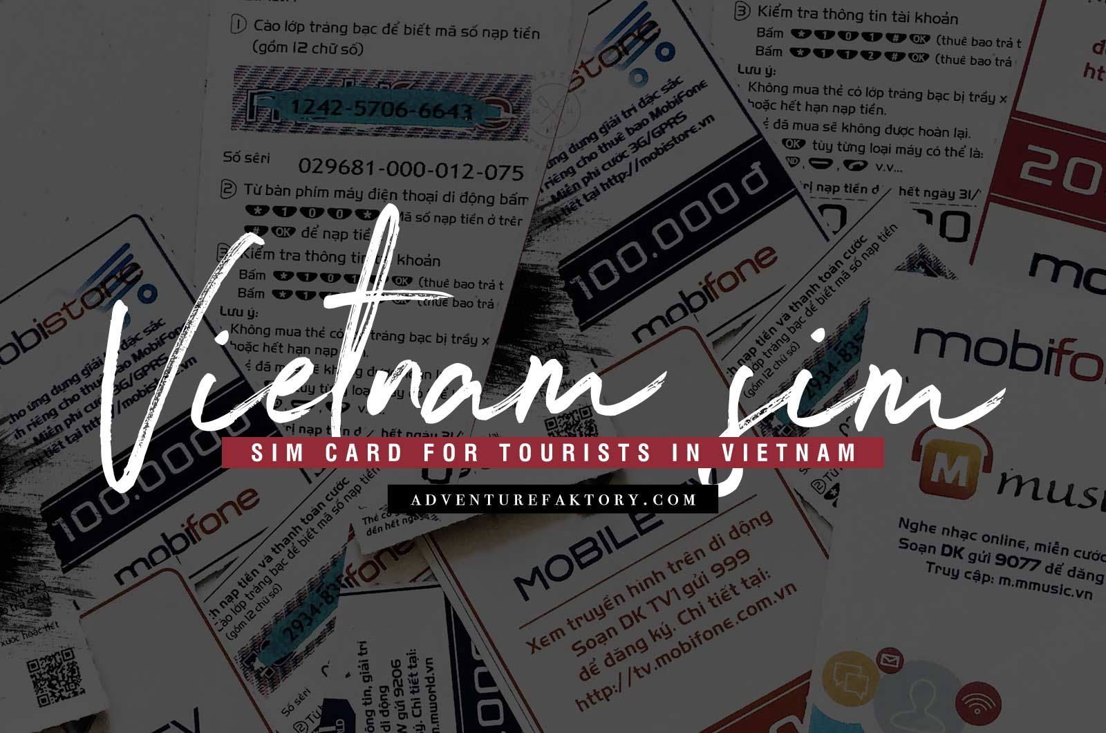 How to get a SIM card in Vietnam | AdventureFaktory | Middle