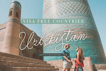 Visa-free for Uzbekistan travel