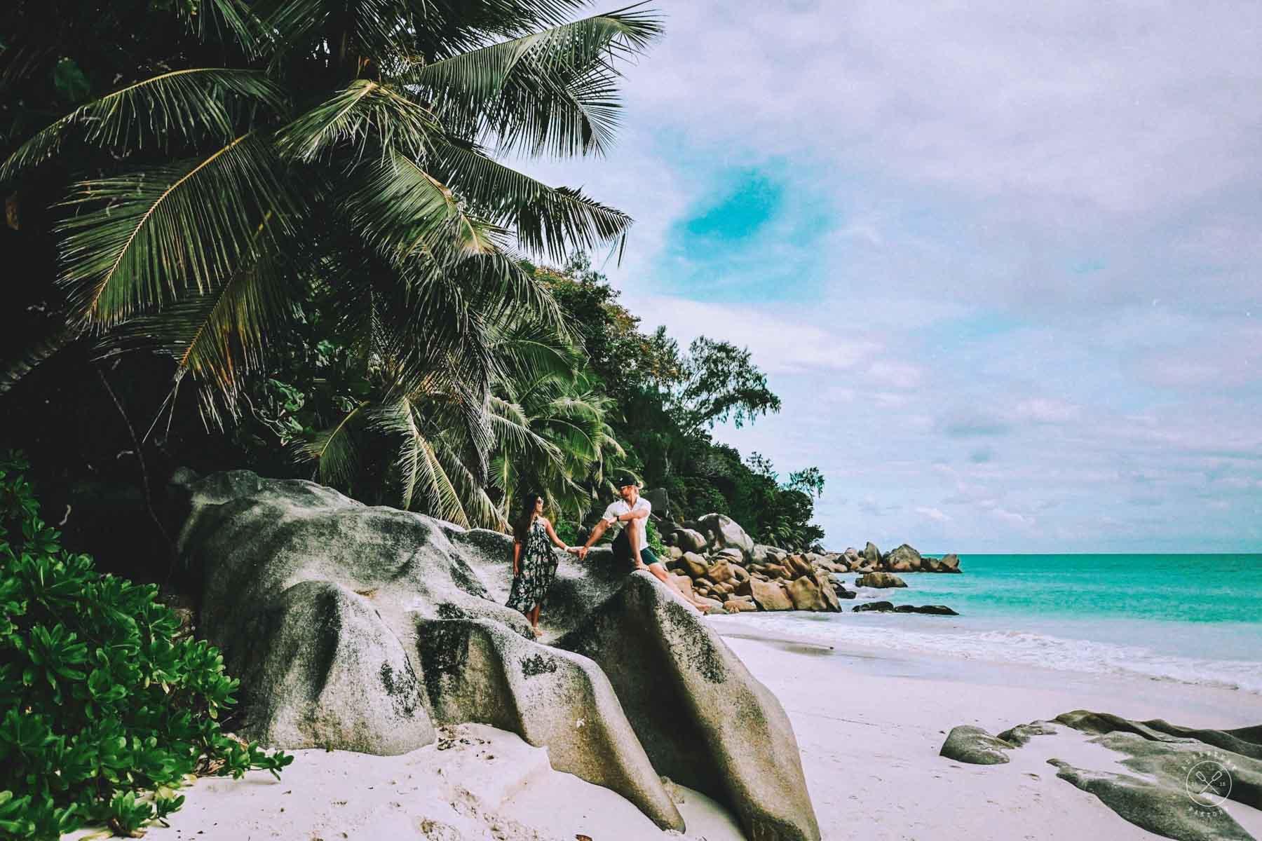 Most beautiful beach of Praslin, Anse Georgette