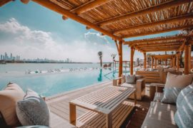 Beach club restaurant in Dubai
